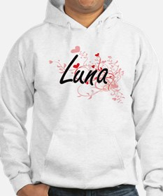 Luna Artistic Design with Hearts Hoodie