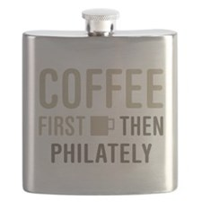 Coffee Then Philately Flask
