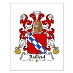 Bailleul Family Crest Small Poster