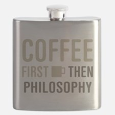 Coffee Then Philosophy Flask