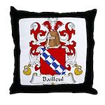 Bailleul Family Crest Throw Pillow