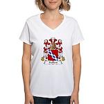 Bailleul Family Crest Women's V-Neck T-Shirt