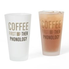 Coffee Then Phonology Drinking Glass
