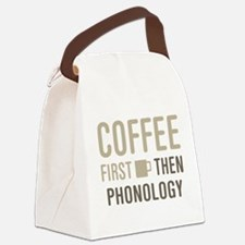 Coffee Then Phonology Canvas Lunch Bag