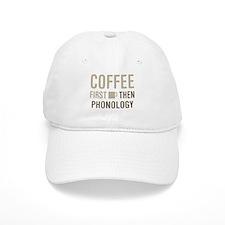 Coffee Then Phonology Baseball Cap