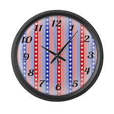 Patriotic Clock Large Wall Clock