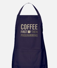 Coffee Then Programming Apron (dark)