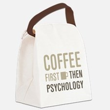 Coffee Then Psychology Canvas Lunch Bag