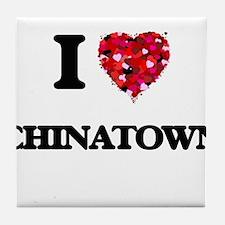 I love Chinatown Tile Coaster