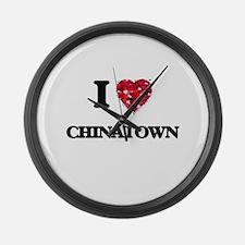 I love Chinatown Large Wall Clock