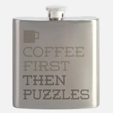 Coffee Then Puzzles Flask