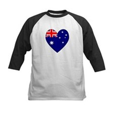 Australian Flag Heart 4 Tee