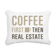 Coffee Then Real Estate Rectangular Canvas Pillow