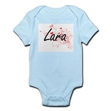 Lara Artistic Design with Hearts Body Suit