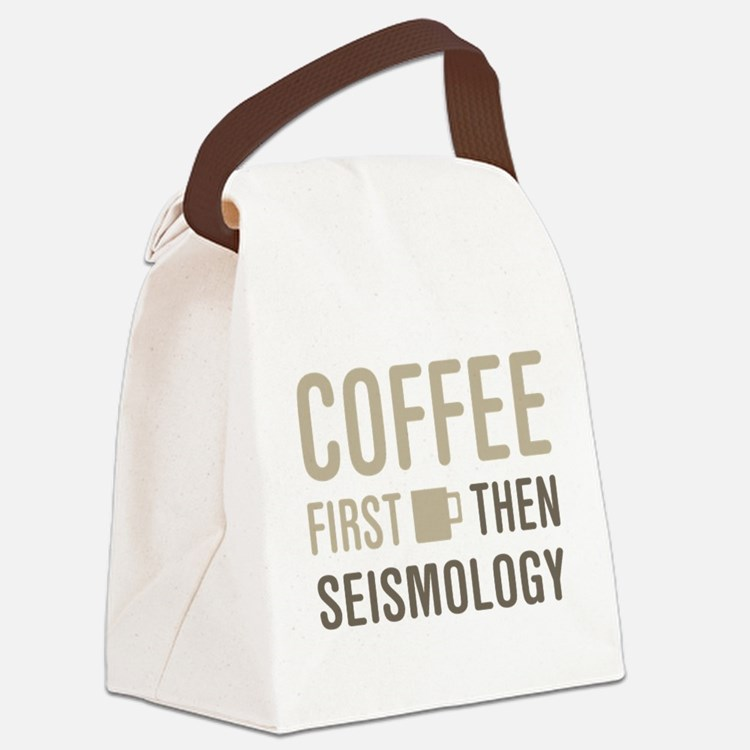 Coffee Then Seismology Canvas Lunch Bag