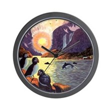Vintage Travel Poster Norway Wall Clock