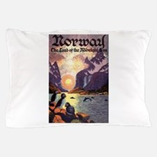 Vintage Travel Poster Norway Pillow Case