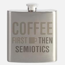 Coffee Then Semiotics Flask