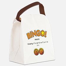 BINGO It Is B4 Canvas Lunch Bag