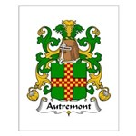Autremont Family Crest Small Poster