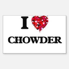 I love Chowder Decal