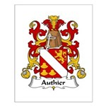 Authier Family Crest Small Poster