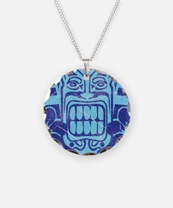 Blue Tiki Necklace