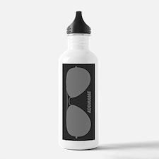 Gray Funky Hipster Sun Water Bottle