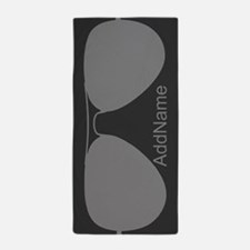 Gray Funky Hipster Sunglasses Personal Beach Towel