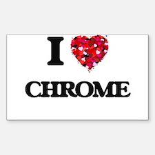 I love Chrome Decal