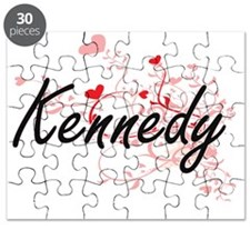 Kennedy Artistic Design with Hearts Puzzle