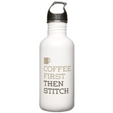 Coffee Then Stitch Water Bottle