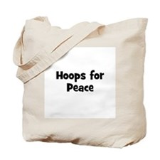 Hoops for Peace Tote Bag
