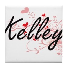 Kelley Artistic Design with Hearts Tile Coaster