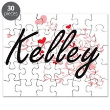 Kelley Artistic Design with Hearts Puzzle