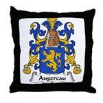 Augereau Family Crest Throw Pillow