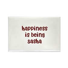 happiness is being Sasha Rectangle Magnet