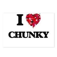 I love Chunky Postcards (Package of 8)