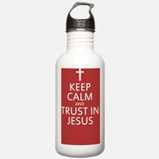 Keep calm and trust je Water Bottle