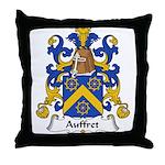 Auffret Family Crest Throw Pillow