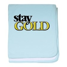 Unique Stay gold baby blanket