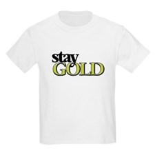 Funny Stay gold T-Shirt