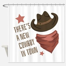 Cowboy In Town Shower Curtain