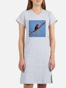 Male Cardinal Women's Nightshirt