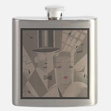 Vintage Art Deco Couple Flask