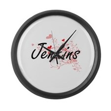 Jenkins Artistic Design with Hear Large Wall Clock