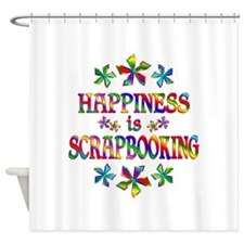 Happiness is Scrapbooking Shower Curtain