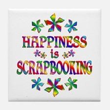Happiness is Scrapbooking Tile Coaster