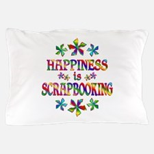 Happiness is Scrapbooking Pillow Case