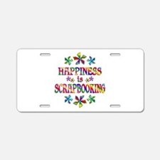 Happiness is Scrapbooking Aluminum License Plate